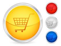 Botón del carro de compras Foto de archivo libre de regalías