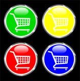Botón del carro de compras para las aplicaciones web Ilustración del Vector