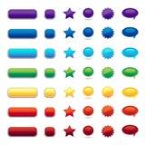 Botón del color ilustración del vector