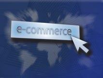 Botón del comercio electrónico Imágenes de archivo libres de regalías