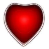 Botón del corazón Fotos de archivo libres de regalías