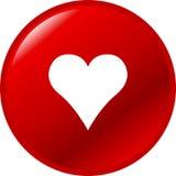 Botón del corazón Imagen de archivo libre de regalías