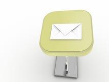 Botón del correo Fotos de archivo libres de regalías