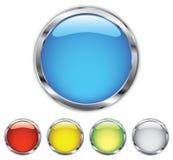 Botón del cromo Fotografía de archivo