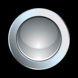 Botón del cromo Imagen de archivo libre de regalías