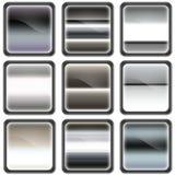 Botón del cromo, botones Imagenes de archivo