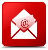 Botón del cuadrado rojo del icono del correo electrónico del hoja informativa libre illustration