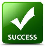 Botón del cuadrado del verde del éxito (valide el icono) libre illustration