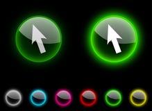 Botón del cursor. Imagenes de archivo