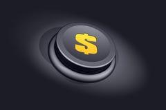 Botón del dólar ilustración del vector
