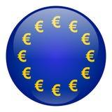 Botón del dinero en circulación de la unión europea Imagen de archivo