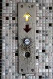 Botón del elevador Fotos de archivo