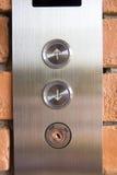 Botón del elevador arriba y abajo de la dirección Fotos de archivo libres de regalías