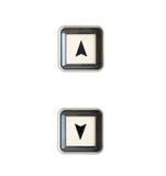 Botón del elevador arriba y abajo de la dirección Imagen de archivo