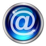 Botón del email Imagen de archivo libre de regalías