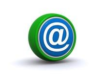 Botón del email Imagen de archivo