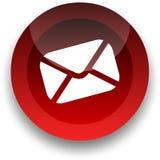 Botón del email Fotos de archivo libres de regalías
