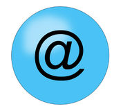 Botón del email Foto de archivo