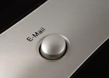 Botón del email Foto de archivo libre de regalías