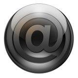 Botón del email del grafito stock de ilustración