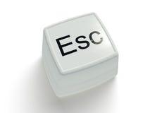 Botón del escape en un fondo blanco Foto de archivo