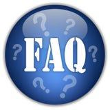 Botón del FAQ Imagen de archivo libre de regalías