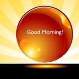Botón del fondo de la salida del sol de la buena mañana Fotos de archivo libres de regalías