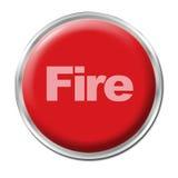 Botón del fuego Fotos de archivo