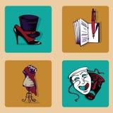Botón del icono Fotos de archivo