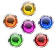 Botón del icono de la charla de la burbuja del discurso Fotografía de archivo