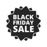 Botón del icono de la muestra de la venta de Black Friday Imágenes de archivo libres de regalías
