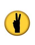 Botón del icono de la paz Imagen de archivo