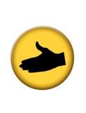 Botón del icono de la sacudida de la mano Fotografía de archivo libre de regalías