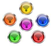Botón del icono de WIFI Fotografía de archivo