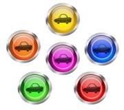Botón del icono del coche Imagenes de archivo