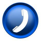 Botón del icono del teléfono Imagen de archivo libre de regalías