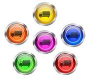 Botón del icono del transporte del envío Foto de archivo