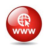 botón del icono del explorador Web ilustración del vector