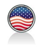 Botón del indicador americano fijado - los E.E.U.U. Fotos de archivo