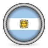 Botón del indicador de la Argentina ilustración del vector