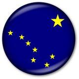 Botón del indicador del estado de Alaska Imagenes de archivo