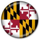 Botón del indicador del estado de Maryland Imagen de archivo libre de regalías