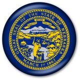 Botón del indicador del estado de Nebraska Foto de archivo libre de regalías