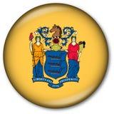 Botón del indicador del estado de New Jersey Imagen de archivo libre de regalías