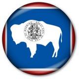 Botón del indicador del estado de Wyoming Imágenes de archivo libres de regalías