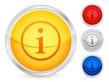 Botón del Info ilustración del vector