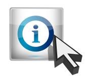 Botón del Info con un diseño de la ilustración del cursor Fotografía de archivo