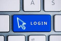 Botón del inicio de sesión Imágenes de archivo libres de regalías
