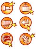 Botón del Internet stock de ilustración