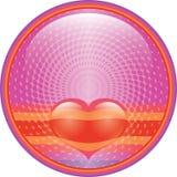 Botón del Internet del corazón Imagenes de archivo